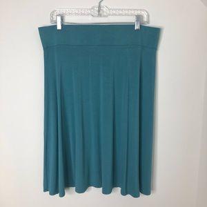 LOGO By Lori Goldstein Stretchy Waist Skirt Size L